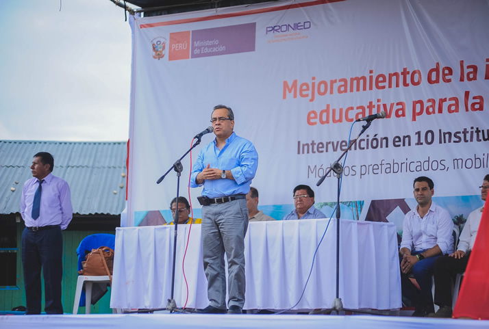 Discurso del Ministro de Educación, Jaime Saavedra. | Speech by Minister of Education, Jaime Saavedra.