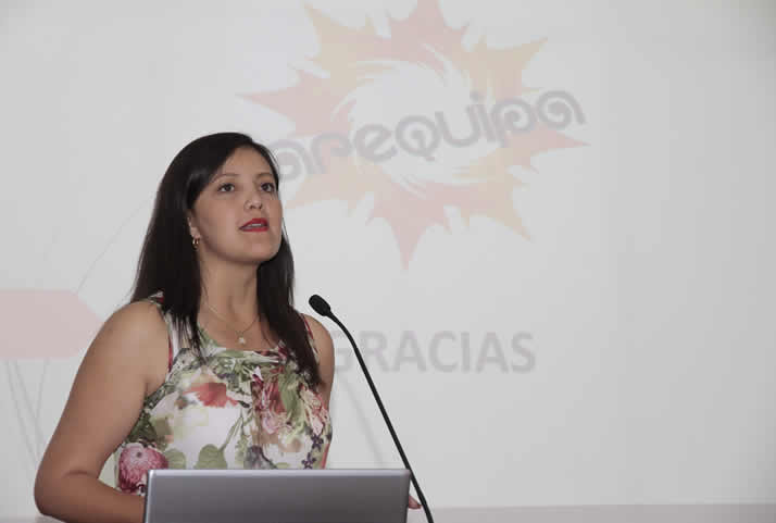 Intervención de la Gobernadora Regional de Arequipa, Yamila Osorio. | Regional Governor of Arequipa, Yamila Osorio.