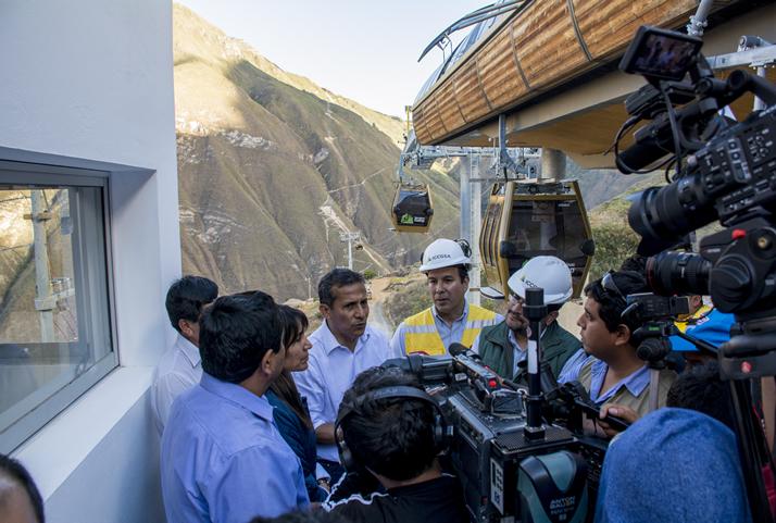 Presidente Humala declaró que con el funcionamiento del Sistema de Telecabinas en Kuélap, la región Amazonas se pone en el mismo nivel de turismo competitivo que tiene Cusco. | President Humala affirmed that thanks to the functioning of the cable car system in Kuelap, the Amazonas Region will have as a competitive level of tourism as Cusco has nowadays.