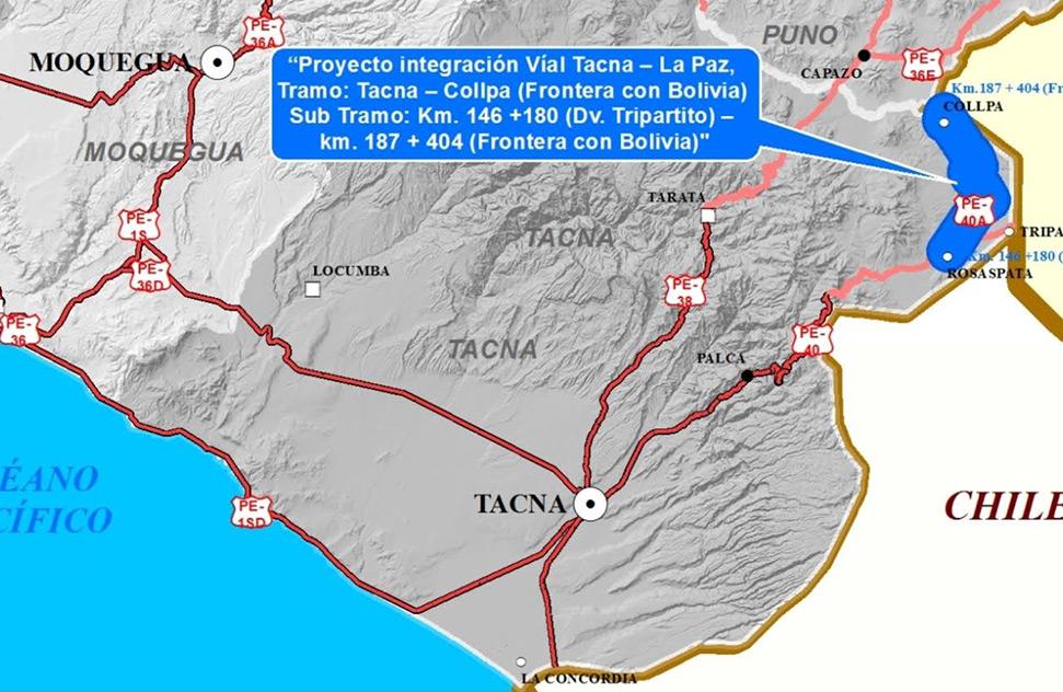ICCGSA fue adjudicada con la buena pro para ejecución del tramo Tacna – Collpa