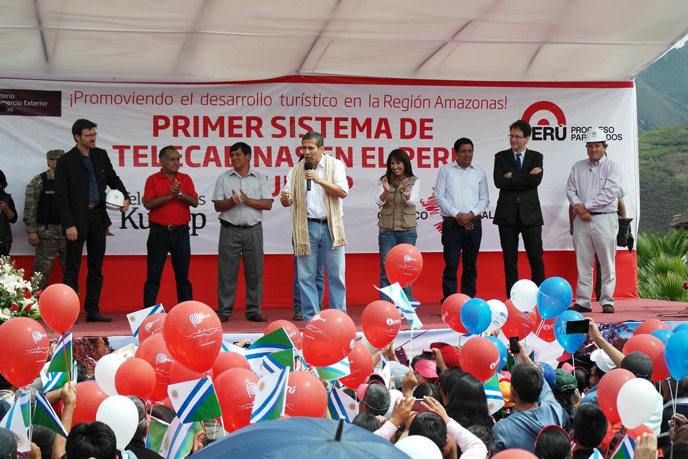 Colocan primera piedra del Proyecto Turístico Sistema de Telecabinas Kuélap, en Chachapoyas