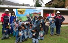Road safety training provided to school students in Huancapallac and Pampas