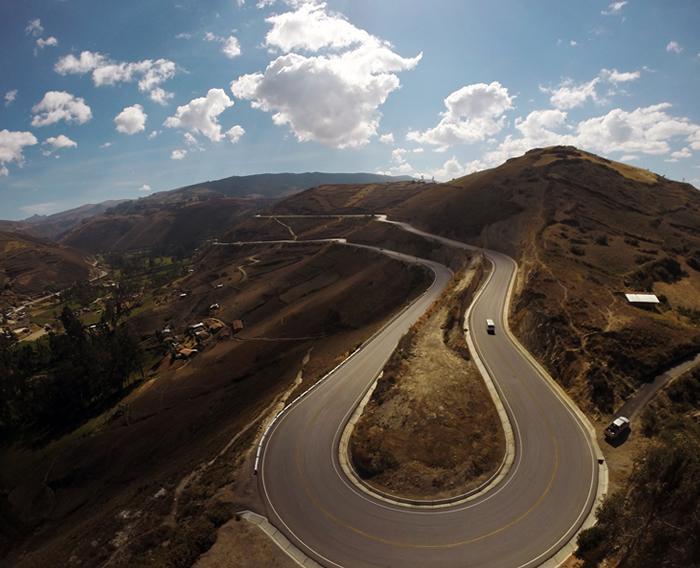 Construction of the Encañada - Micuypampa Highway